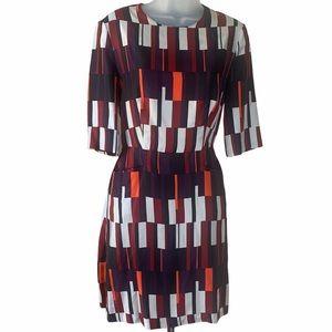 Rag & Bone Patterned Silk Sheath Dress Geometric 4